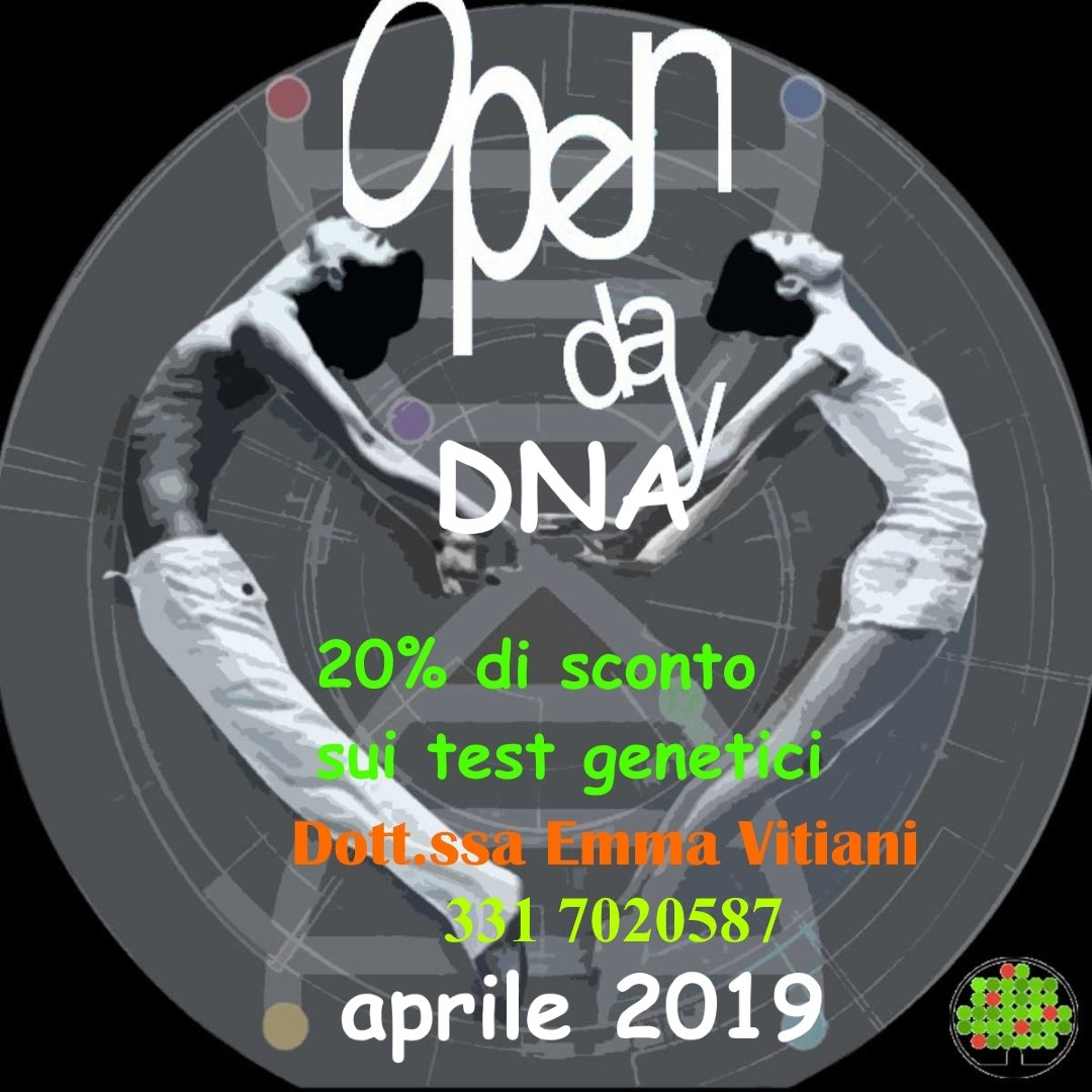 Test del DNA - Open Day Aprile 2019