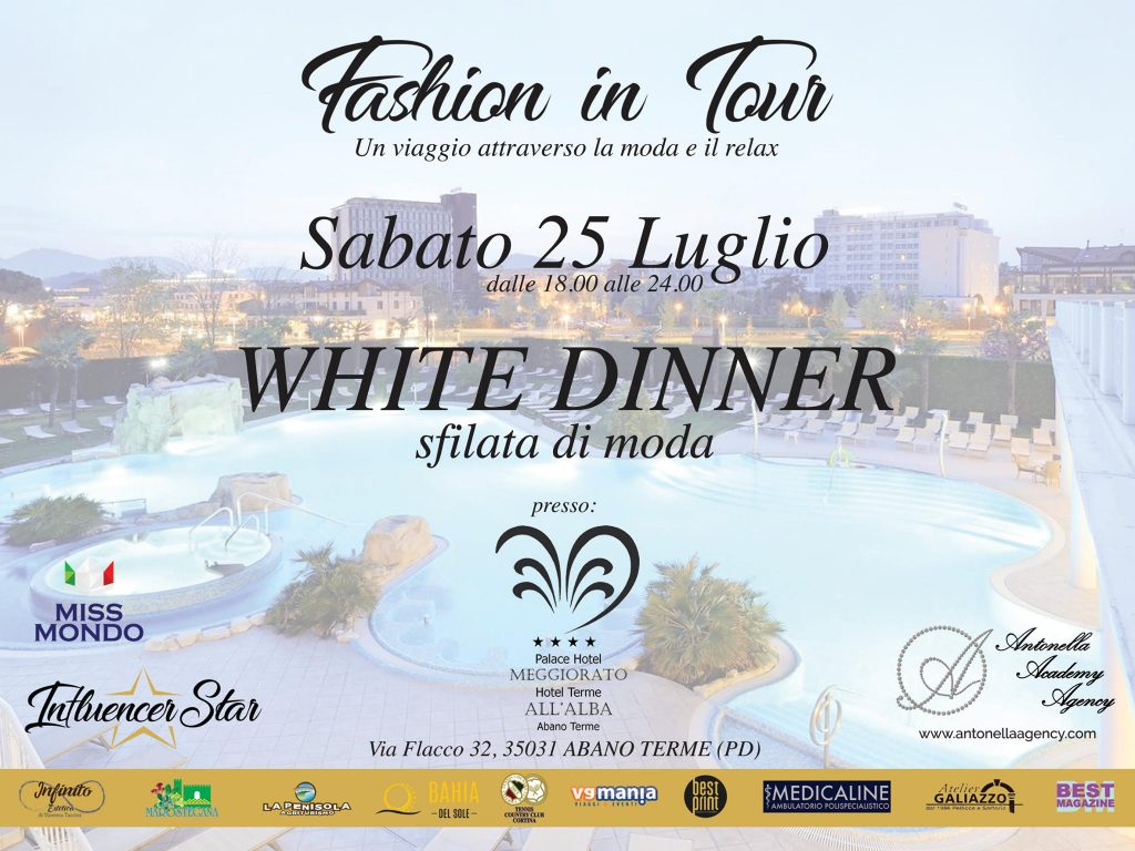 white dinner - hotel all'alba